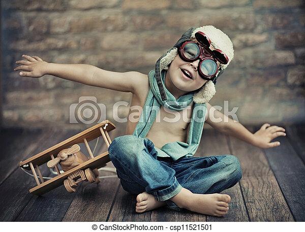 piccolo, ragazzo, gioco - csp11521501