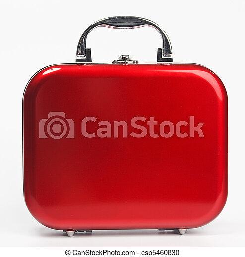 piccolo, rosso, valigia - csp5460830