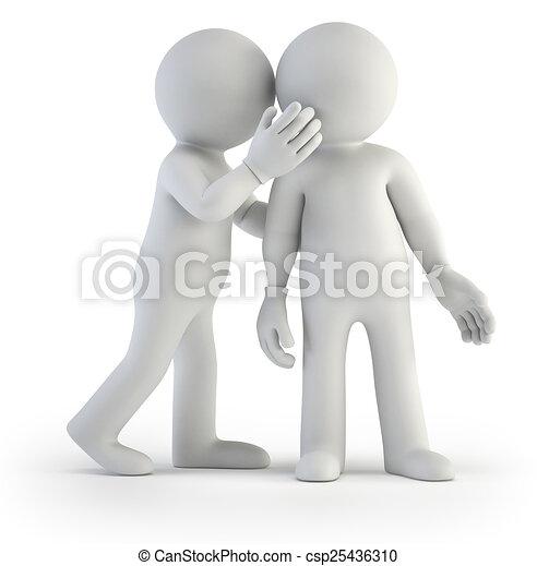 piccolo, segreto, 3d, -, persone - csp25436310