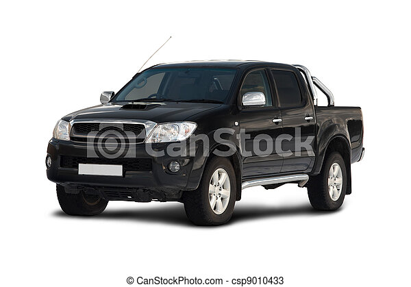 pick-up truck isolated on white - csp9010433