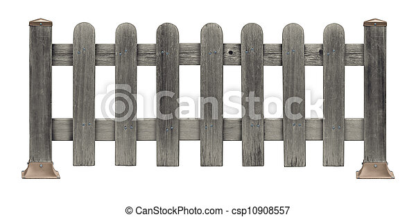 Picket Fence Grunge - csp10908557