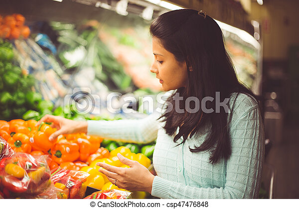 Picking the right vegetable - csp47476848