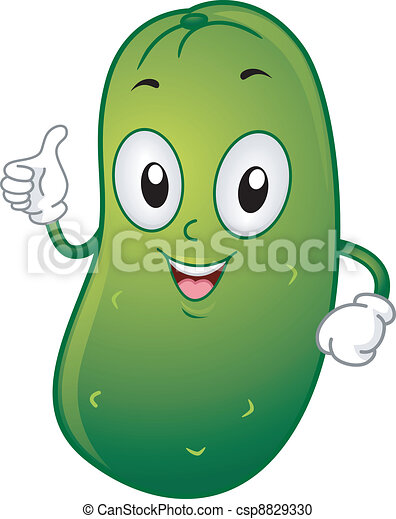 illustration of a pickle mascot giving a thumbs up rh canstockphoto com clip art pickle slices pickle clip art images