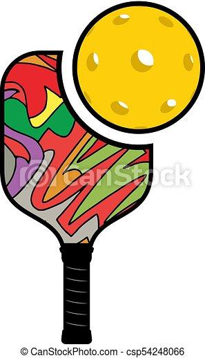 creative design of pickleball illustration clip art vector search rh canstockphoto com  pickleball clip art free