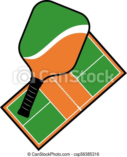 creative design of pickleball racket and court vector clip art rh canstockphoto ie  pickleball clip art free images