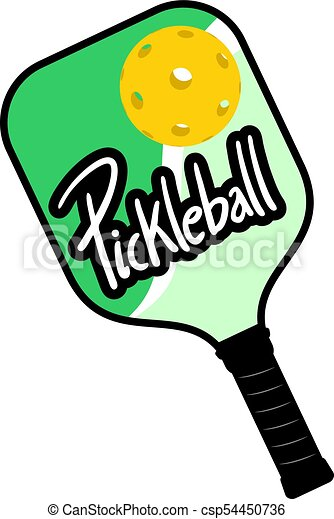 pickleball racket draw design creative design of pickleball rh canstockphoto com pickleball clip art free pickleball clipart free