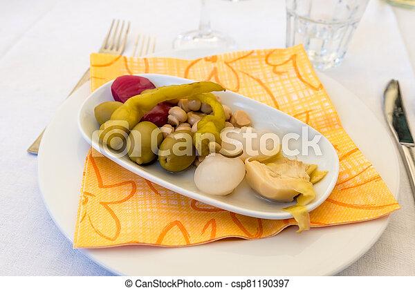 Pickled vegetables - csp81190397