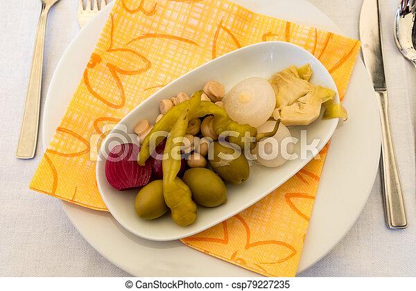 Pickled vegetables - csp79227235