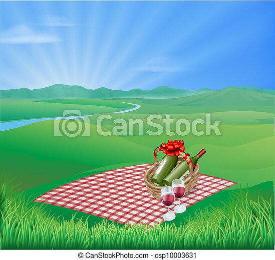 picknicken, landskap - csp10003631