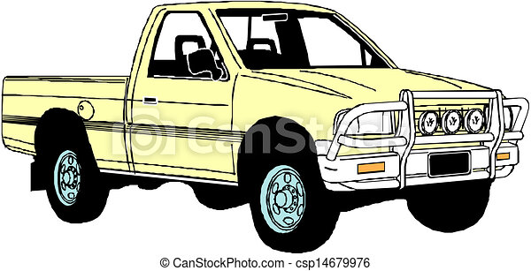 pickup truck vectors illustration search clipart drawings and rh canstockphoto com clip art vintage pickup truck pickup truck clip art free