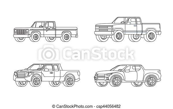 Pickup Truck Modern Design Models Set