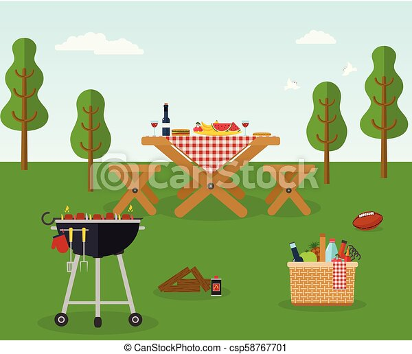 Picnic bbq party outdoor recreation - csp58767701