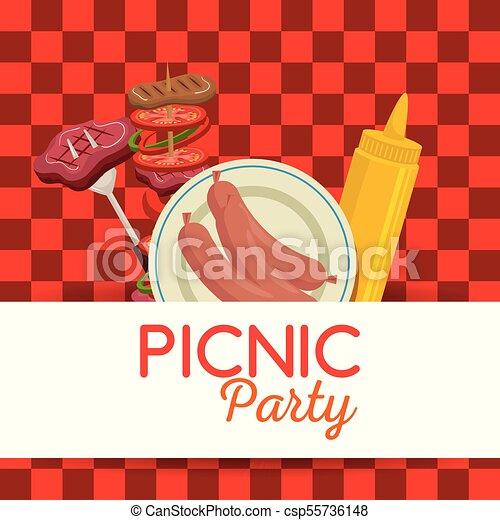 Picnic party invitation set icons vector illustration design picnic party invitation set icons csp55736148 stopboris Images