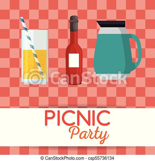 Picnic party invitation set icons vector illustration design picnic party invitation set icons csp55736134 stopboris Choice Image