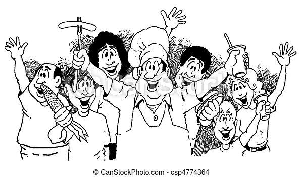 La gente anuncia un picnic - csp4774364