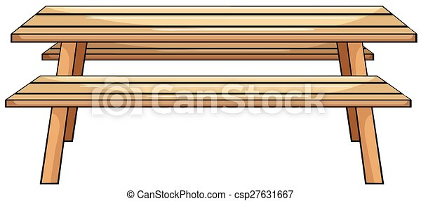 picnic table close up wooden picnic table rh canstockphoto com picnic table images clip art picnic tablecloth clipart