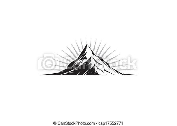 El pico de la montaña - csp17552771