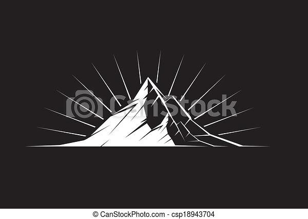 Montaña pico por la noche - csp18943704