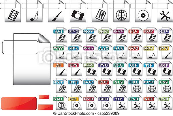 pictogram, bestand, formaat - csp5239089