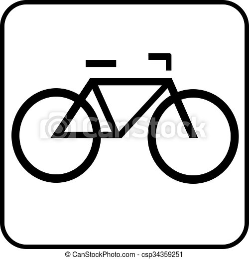 pictogram bike a black and white icon for a bicycle clipart vector rh canstockphoto ca vector bicycle clip art vector bicycle wheel