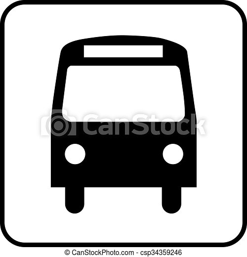 pictogram bus a black and white icon of a bus stop or a bus eps rh canstockphoto com school bus clipart vector white bus clipart vector free