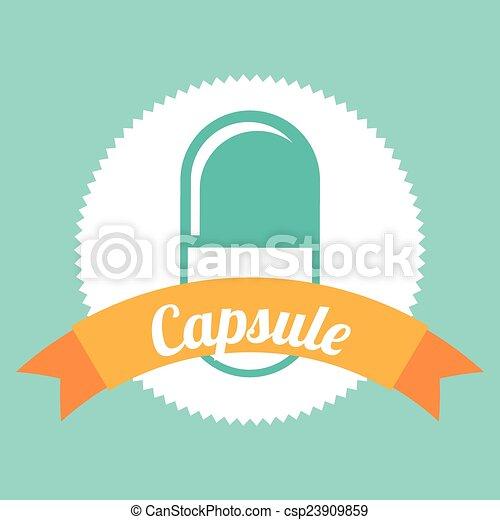 pictogram, capsule - csp23909859