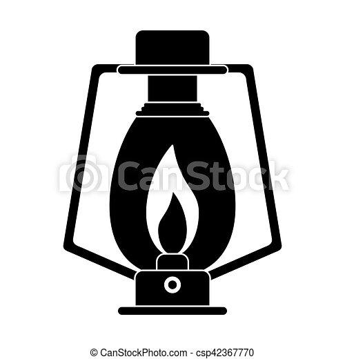 Pictogram Lamp Kerosene Old Lantern Camping