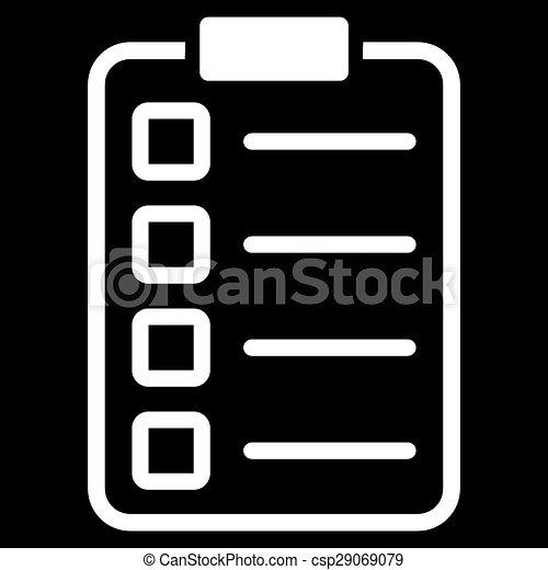 pictogram, set, examen, zakelijk, bicolor - csp29069079