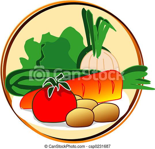 pictogram - vegetables - csp0231687