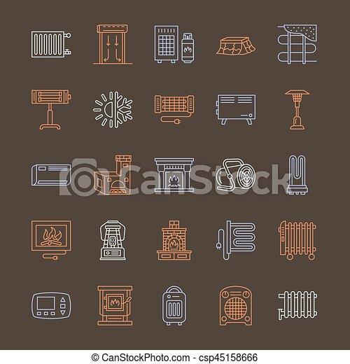 Pictogramme Maison Appareils Signes Maison Cheminee Oven