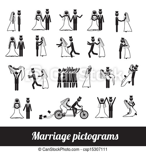 pictograms, házasság - csp15307111