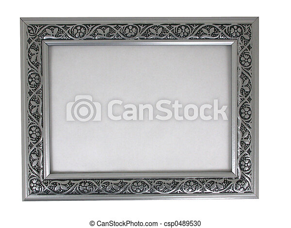 picture frame - silver 02 - csp0489530