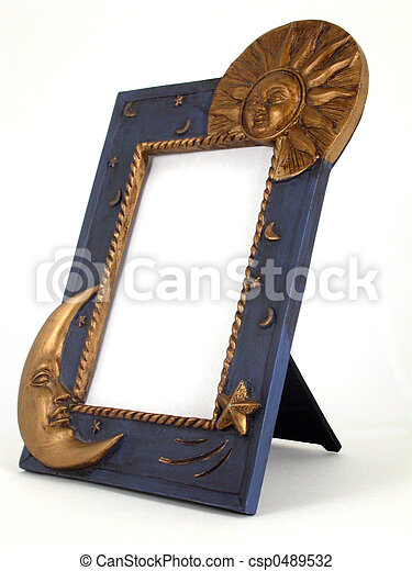 picture frame - sun and moon - csp0489532