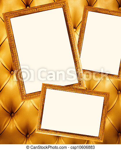 Picture frames on a wall - csp10606883