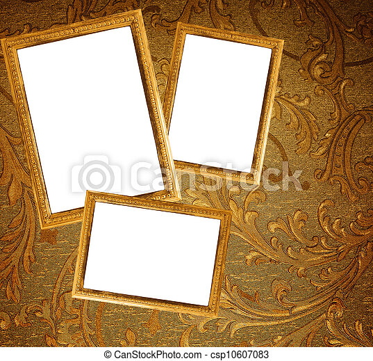 Picture frames on a wall - csp10607083