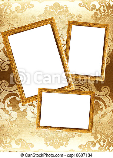 Picture frames on a wall - csp10607134