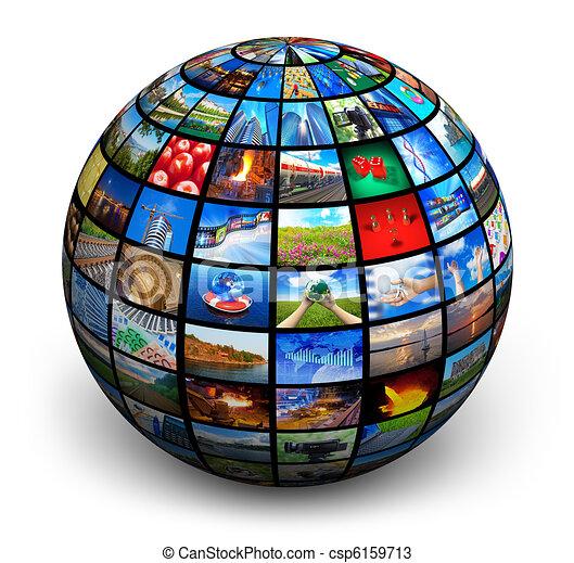 Picture globe - csp6159713