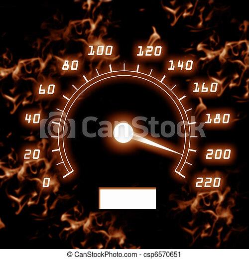 picture of speedometer - csp6570651