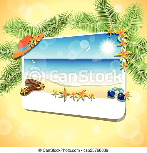 Picture of the sand beach landscape. - csp25768839