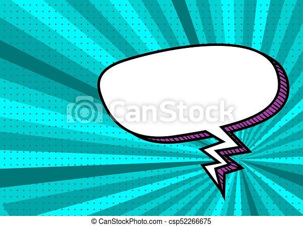 Picture Pop Art Style Comic Text Speech Bubble