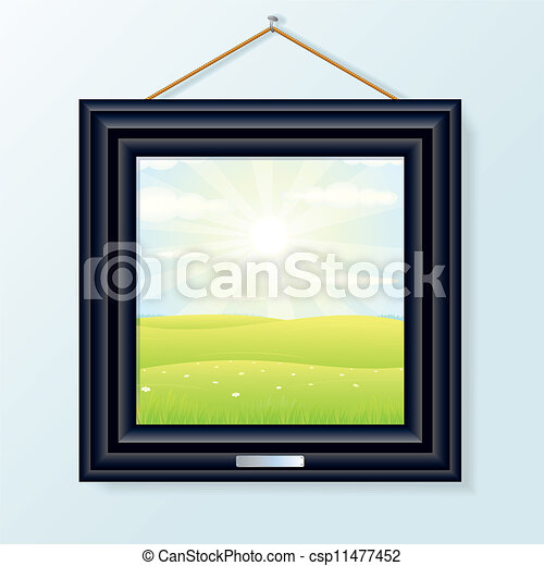 Picture with Beauty Landscape - csp11477452