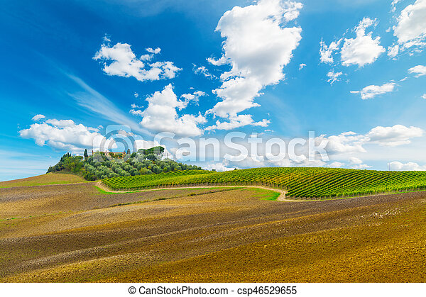 Picturesque hill in Tuscany - csp46529655