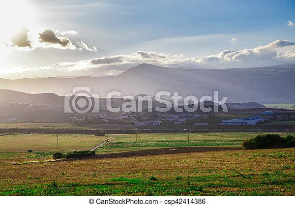 Picturesque landscape of Spain - csp42414386