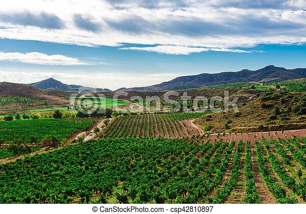 Picturesque landscape of Spain - csp42810897
