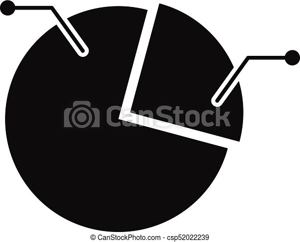 Pie Chart Icon Vector Simple Pie Chart Icon Simple Illustration Of