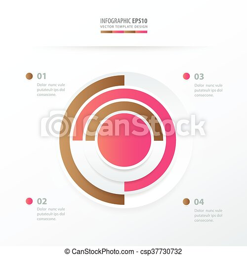 Pie Chart Infographics Pink And Sugar Color Pie Chart Vectors