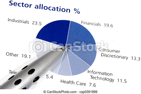 Photo Of A Pen On A Pie Chart Asset Allocation
