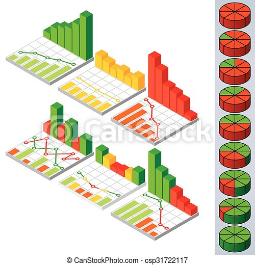 Pie Charts And Graphs Vector Elements For Design Collection Of Pie