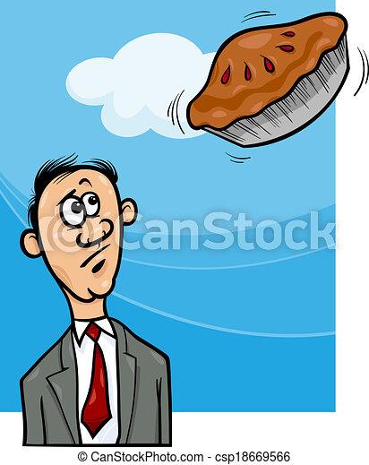 pie in the sky saying cartoon cartoon humor concept clip art rh canstockphoto com  thanksgiving humor clipart