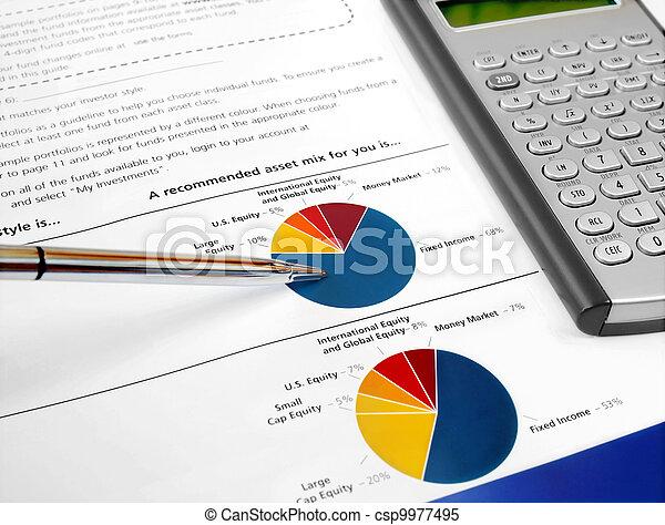 Pie Investment Chart - csp9977495